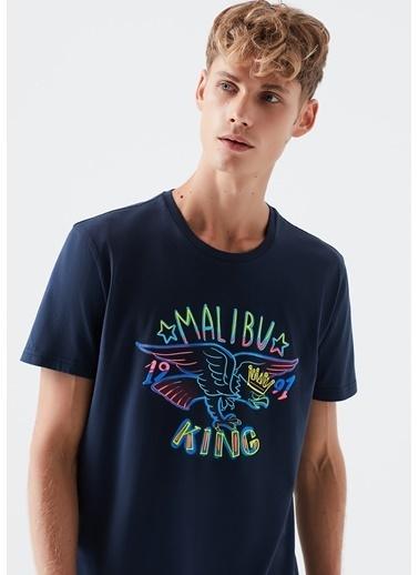 Mavi Malibu King Baskılı  Tişört Lacivert